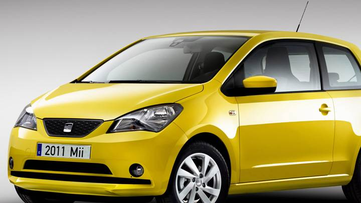 2012 SEAT Mii Front Pose In Yellow